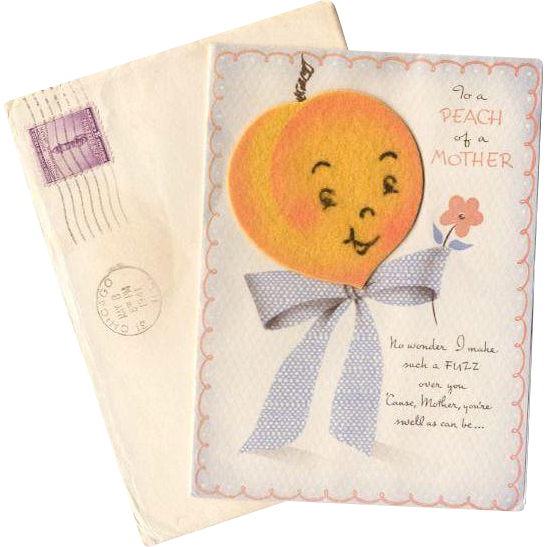 Cute 1941 Mother's Day Card With Envelope