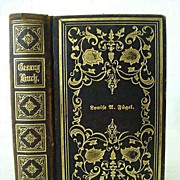 Gold Embossed 1866 German Lutheran Song Book