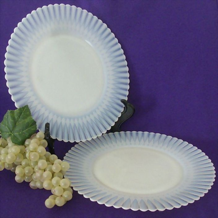Pair Petalware Luncheon Plates With Fluted Edge