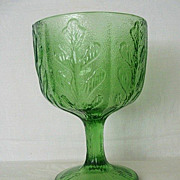 Emerald Green Holiday FTD Compote Dated 1975