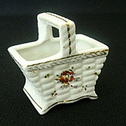 Pico Occupied Japan Tiny Ceramic Basket - 1940's