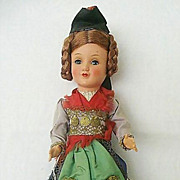 Bavarian Jointed Gura Doll With Original Tag - Red Tag Sale Item