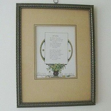 Motto Print Declaring Love For Mom Dated 1939