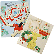 Teddy Bear And Puppy Christmas Greetings