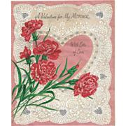 Buzza Cardozo Signed Double Valentine Card Dated 1962