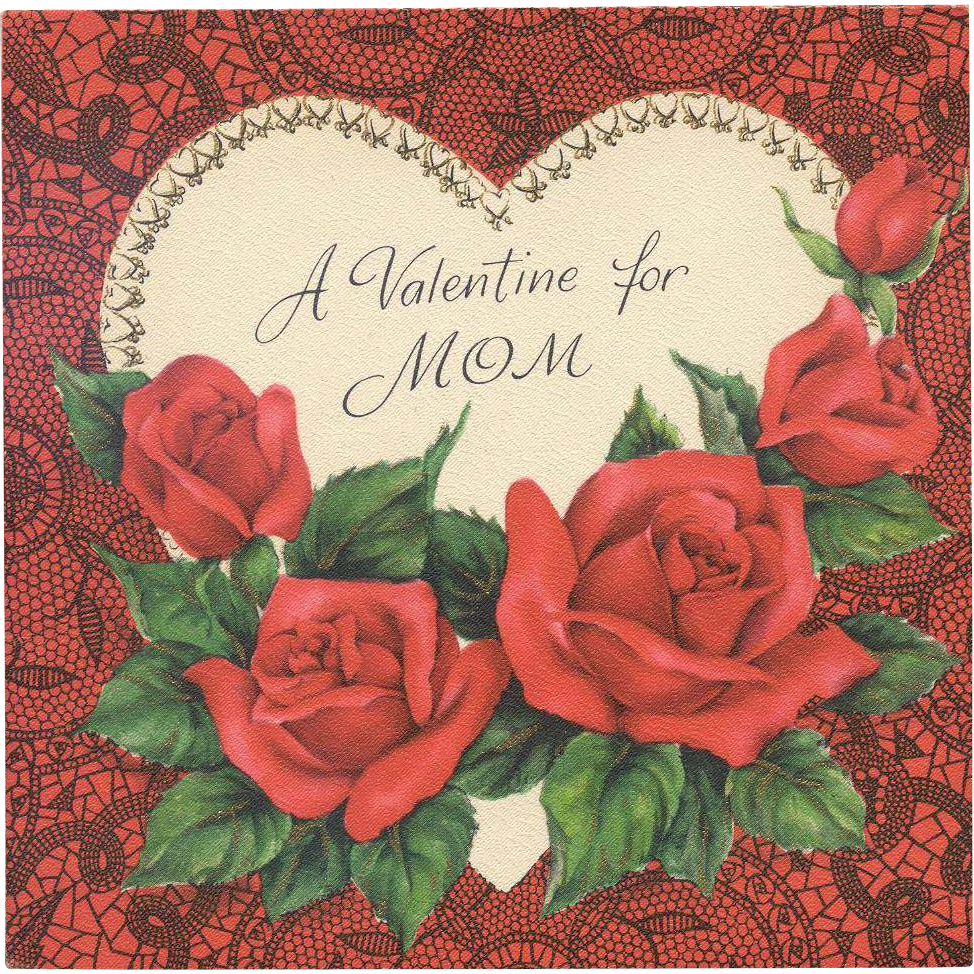 Hallmark Valentine Greetings For Mom - Dated 1951