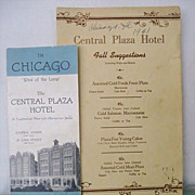 Chicago Hotel Menu and Brochure Dated 1941