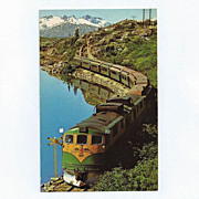 Original White Pass & Yukon Railway Postcard