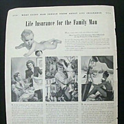 Wartime Full Page Original Ad Prudential Insurance