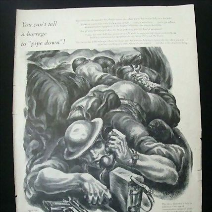 Wartime Full Page Ad for Stromberg-Carlson Original Print