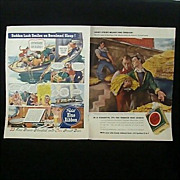 Original Ad Prints 1942 Pabst & Lucky Strike - 4 Page Combo