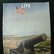Life Magazine Honors July 4th 1942 During Wartime - Original Print