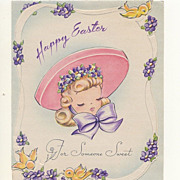 Easter Card For Someone Sweet 1946