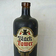 German Coated Bottle Black Tower Wine