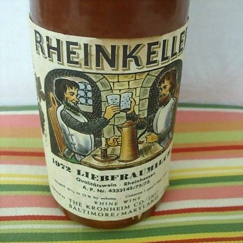 German Salt Glaze Rheinkeller Wine Bottle 1972