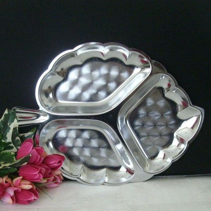 Aluminum Fancy Leaf-Shaped Server