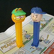 Classic Cartoon Pez Dispensers Garfield & Charlie Brown