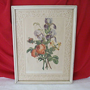 Prevost Floral Print Framed With Paper Lace