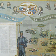 Civil War Map and Chart By Historic House - Red Tag Sale Item