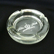 Hilton Hotel Heavy Glass Souvenir Ashtray