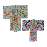 Pair Child Sized Colorful Kimono Costumes