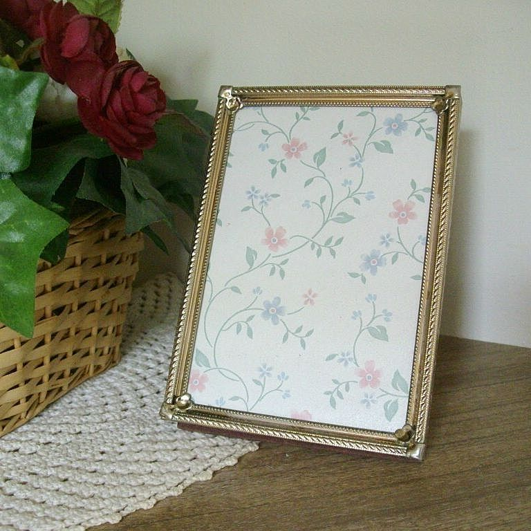 Single Gold Tone Table Top Frame - 1970s