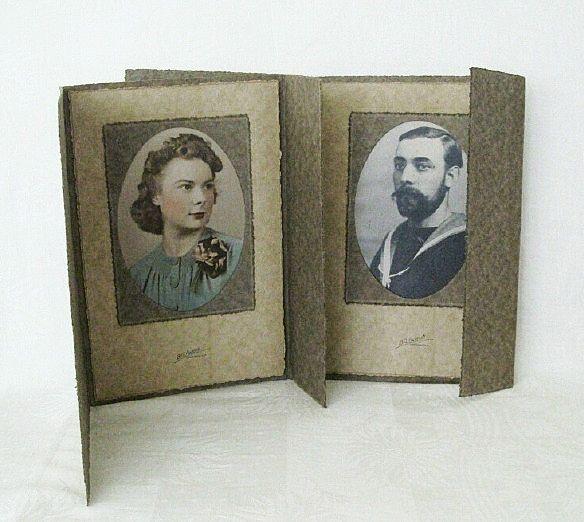 Matching Cardboard Tri-fold Studio Picture Frames