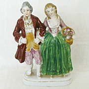 Colonial Couple Figurine - Occupied Japan
