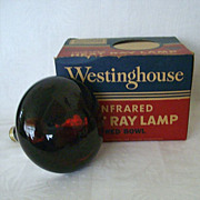 Westinghouse Red Bowl Working Heat Lamp Original Box
