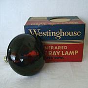 Westinghouse Red Bowl Working Heat Lamp Original Box