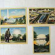 Set Four New York World's Fair Postcards 1939