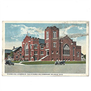 Postcard St. Paul's Lutheran Church, Columbus, OH