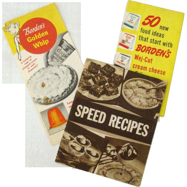 Trio of Vintage Borden's Recipe Booklets
