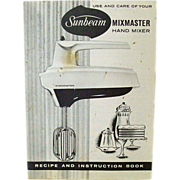 Sunbeam Mixmaster Recipe Instruction Book 1968