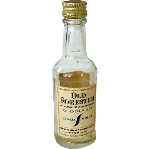 Old Forester Whiskey Bottle From Southern Airways