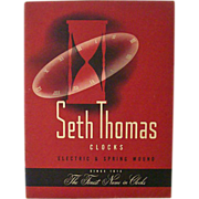 Seth Thomas Catalog 1949 With Stock Price Sheet
