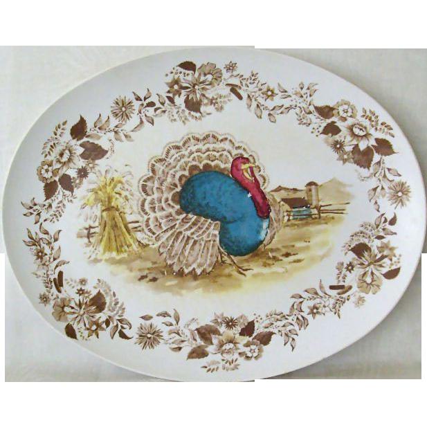 Melmac Royal Nottingham1970s Turkey Platter