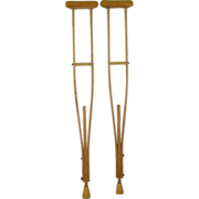 Wood Crutches Could Be Recycled Art Project