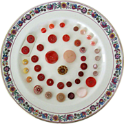 Red and Pink Buttons Collection - All Vintage