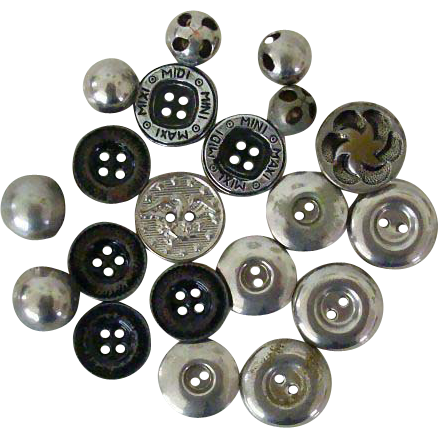Vintage Collection Metal Buttons