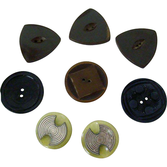 Deco Style Buttons Matched Pairs & Singles
