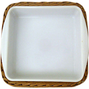 Glasbake Square Casserole J-247 With Original Basket