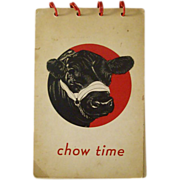 Chow Time Published by the Aberdeen-Angus Assn 1950s