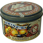 Heinz's Blackberry Round Jelly Tin 1983