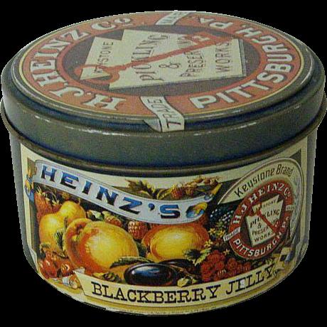 Heinz's Blackberry Round Jelly Tin 1983