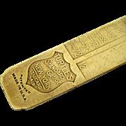 Unusual Brass  Letterpress Type or Line Gauge