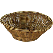 Familiar Oval Wicker Laundry Basket