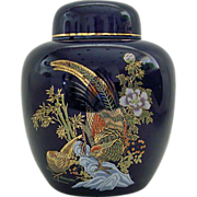 Cobalt Blue Ginger Jar Tea Caddy