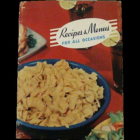 Rare Frito Lay Cookbook 1947