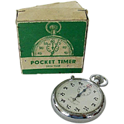 Chesterfield Pocket Timer Stopwatch Original Box